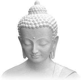 buddha white statue