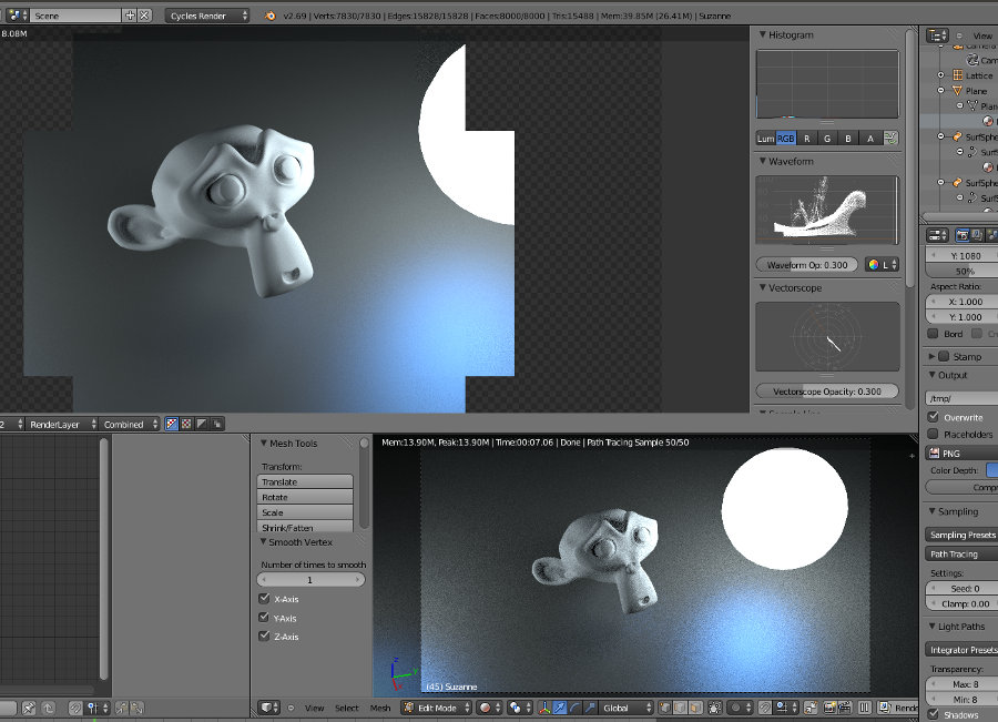blender day 9 monkey in cycles